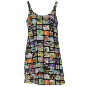 Jeremy Scott Futuristic TV Print Dress